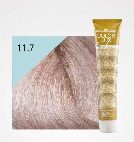 Vopsea de par blond irizat platinat super deschis 11.7 Color Lux 100 ml 0