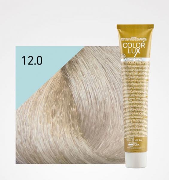 Vopsea de par blond extra platinat super deschis 12.0 Color Lux 100 ml 0