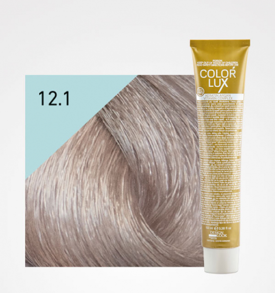 Vopsea de par blond cenusiu extra platinat super deschis 12.1 Color Lux 100 ml 0