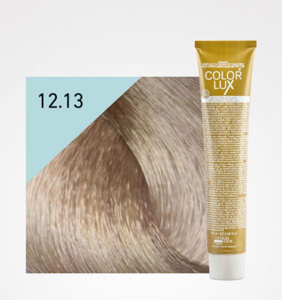Vopsea de par blond bej extra platinat super deschis 12.13 Color Lux 100 ml 0
