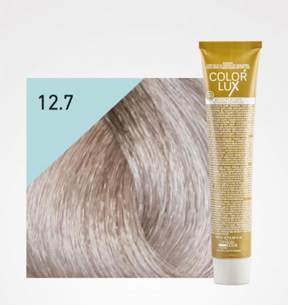 Vopsea de par blond irizat extra platinat super deschis 12.7 Color Lux 100 ml 0