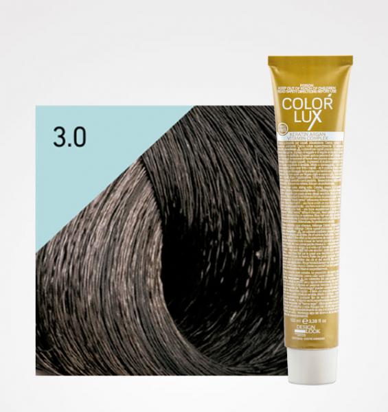 Vopsea de par castaniu inchis 3.0 Color Lux 100 ml 0