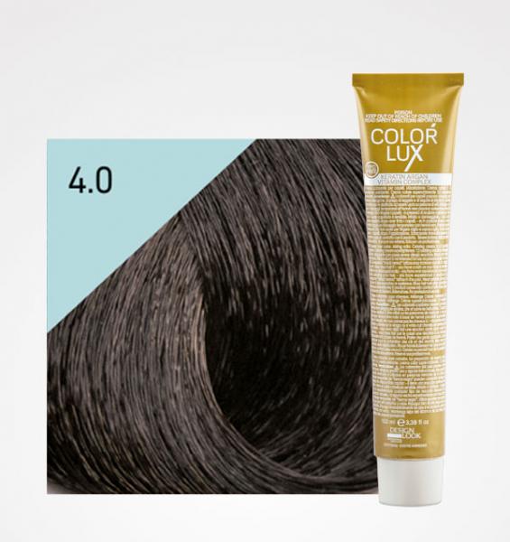 Vopsea de par castaniu 4.0 Color Lux 100 ml 0