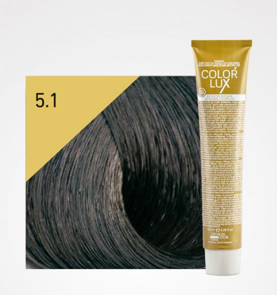 Vopsea de par castaniu cenusiu deschis 5.1 Color Lux 100 ml 0