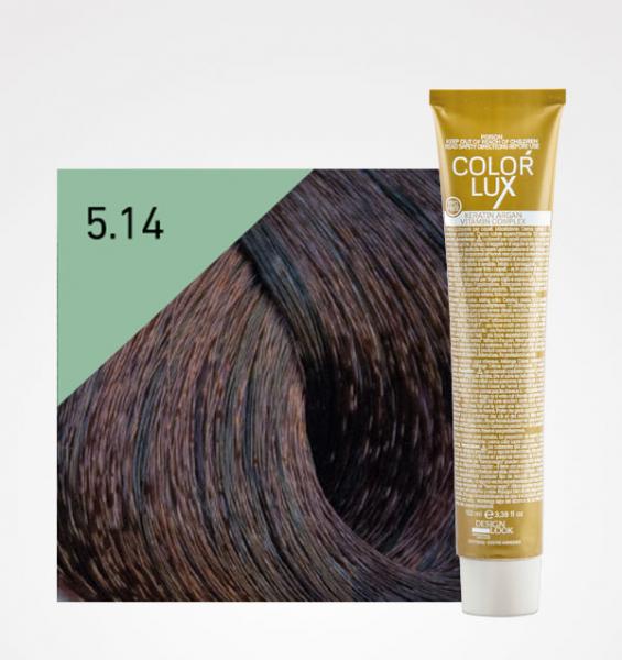 Vopsea de par ciocolatiu 5.14 Color Lux 100 ml 0