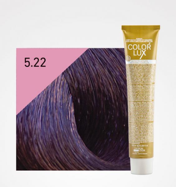 Vopsea de par castaniu violet deschis intens 5.22 Color Lux 100 ml 0