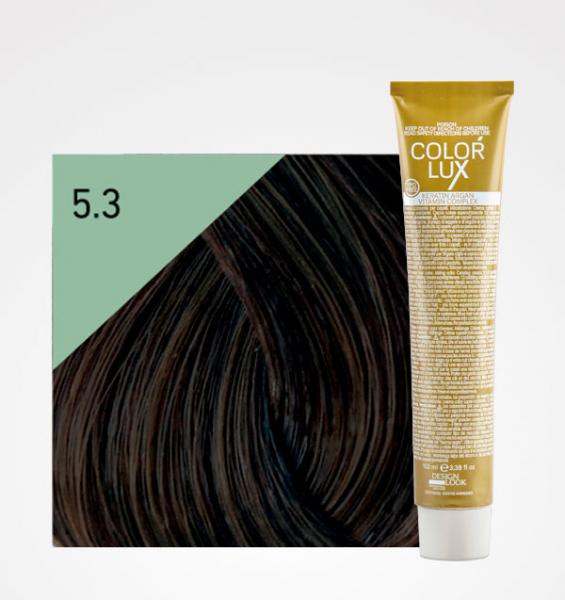 Vopsea de par castaniu auriu deschis 5.3 Color Lux 100 ml 0
