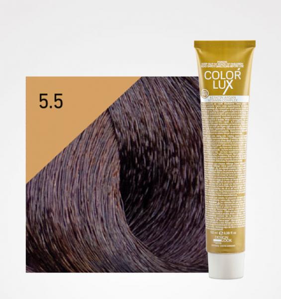 Vopsea de par castaniu mahon deschis 5.5 Color Lux 100 ml 0