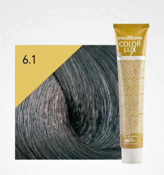 Vopsea de par blond cenusiu inchis 6.1 Color Lux 100 ml 0