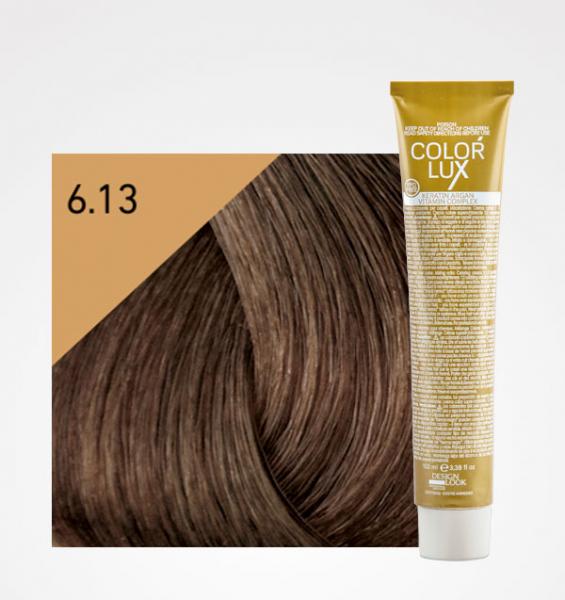 Vopsea de par blond bej inchis 6.13 Color Lux 100 ml 0