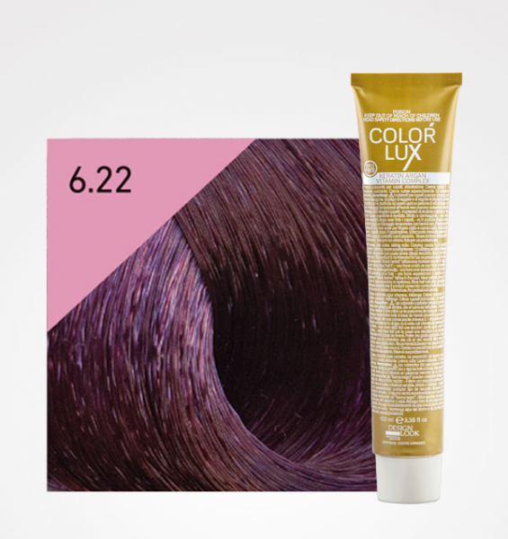 Vopsea de par blond violet inchis intens 6.22 Color Lux 100 ml 0