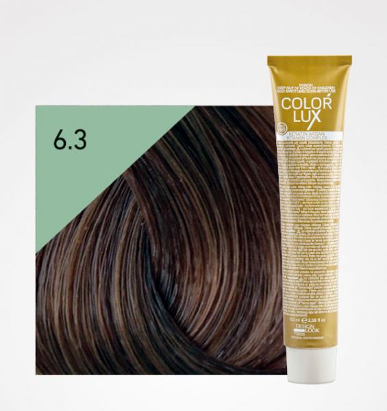 Vopsea de par blond auriu inchis 6.3 Color Lux 100 ml 0