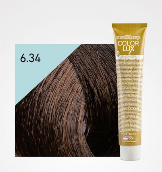 Vopsea de par blond auriu aramiu inchis 6.34 Color Lux 100 ml 0