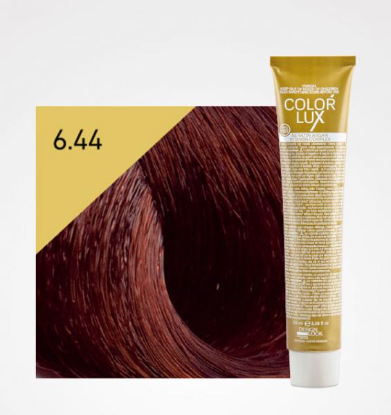 Vopsea de par blond aramiu inchis intens 6.44 Color Lux 100 ml 0