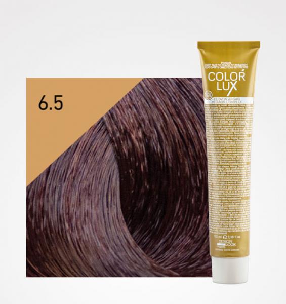 Vopsea de par blond mahon inchis 6.5 Color Lux 100 ml 0