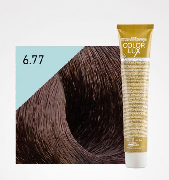 Vopsea de par ciocolata amara 6.77 Color Lux 100 ml 0