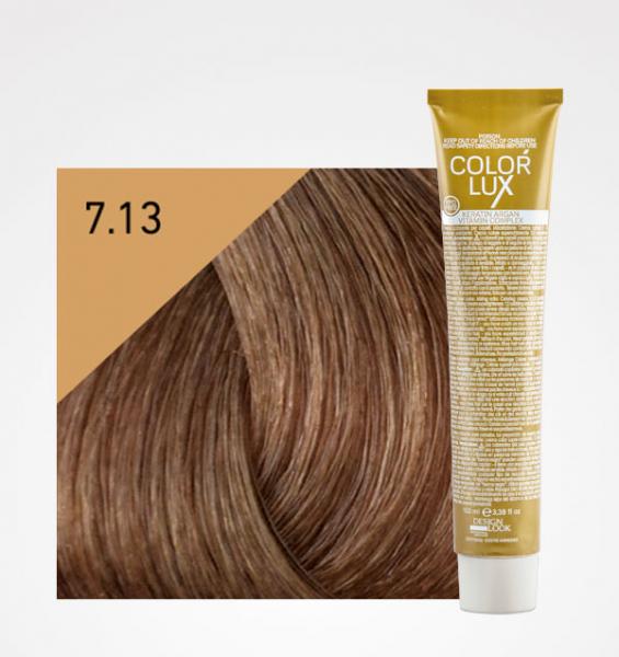 Vopsea de par blond bej 7.13 Color Lux 100 ml 0