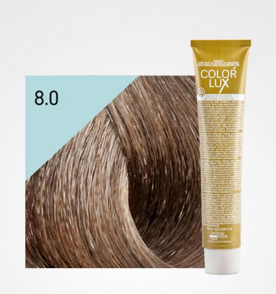 Vopsea de par blond deschis 8.0 Color Lux 100 ml 0