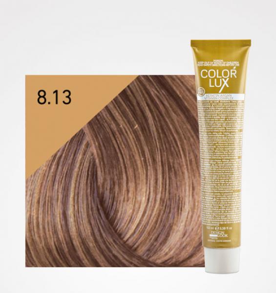 Vopsea de par blond bej deschis 8.13 Color Lux 100 ml 0