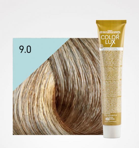 Vopsea de par blond foarte deschis 9.0 Color Lux 100 ml 0