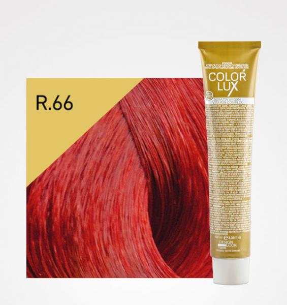 Vopsea de par rosu intens R.66 Color Lux 100 ml 0