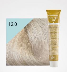 Vopsea de par blond extra platinat super deschis 12.0 Color Lux 100 ml0