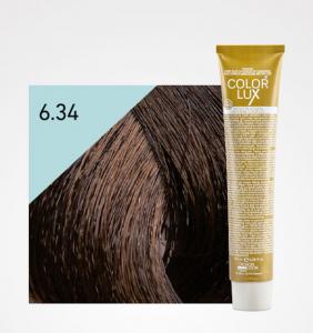 Vopsea de par blond auriu aramiu inchis 6.34 Color Lux 100 ml0