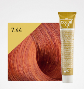 Vopsea de par blond aramiu intens 7.44 Color Lux 100 ml0