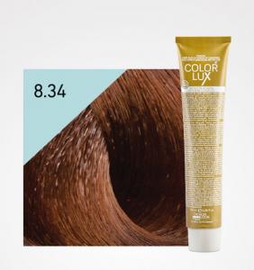 Vopsea de par blond auriu aramiu deschis 8.34 Color Lux 100 ml0