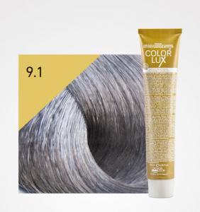 Vopsea de par blond cenusiu foarte deschis 9.1 Color Lux 100 ml
