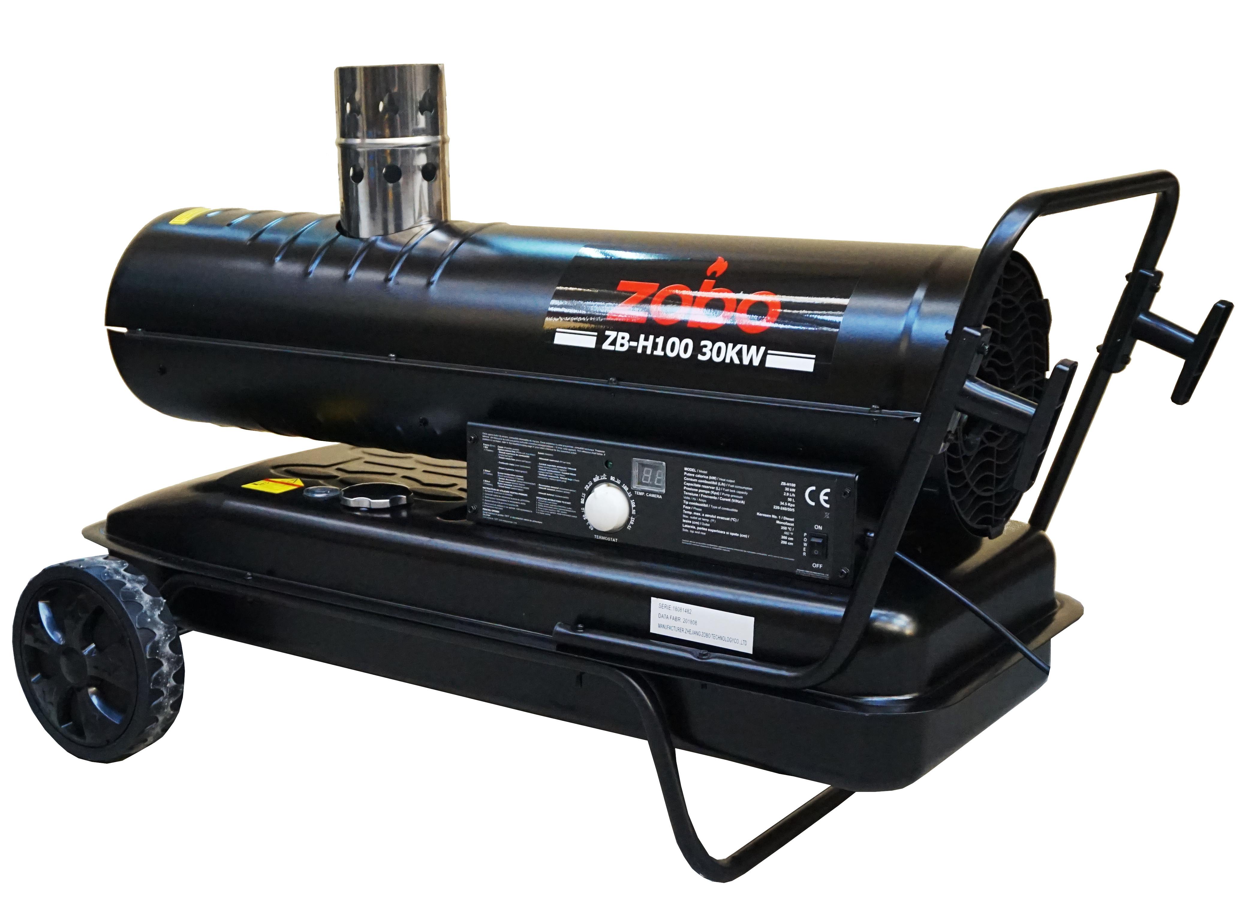 Tun de aer cald Zobo ZB-H100, ardere indirecta, 30kW [0]