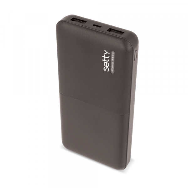 Power Bank 10000 mAh, GMO, Setty, negru 0