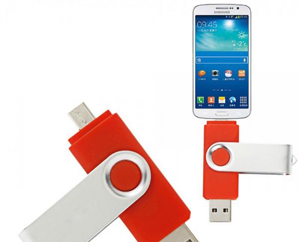 Stick de memorie cu USB 2.0 si micro USB, GMO, 32GB, rosu 3