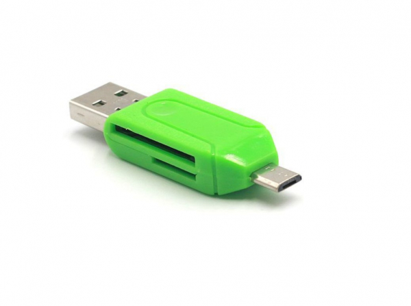 Card reader Memo Switch, USB 2.0 si microUSB, verde [1]