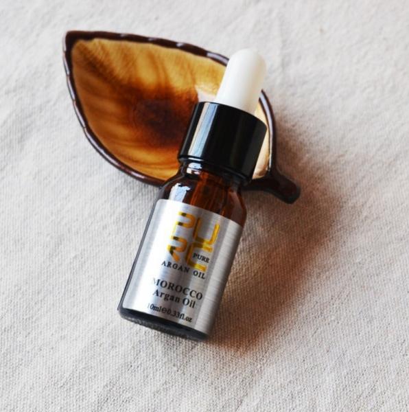 Ulei pur de argan pentru tratamentul parului, GMO, Pure, 10ml [1]