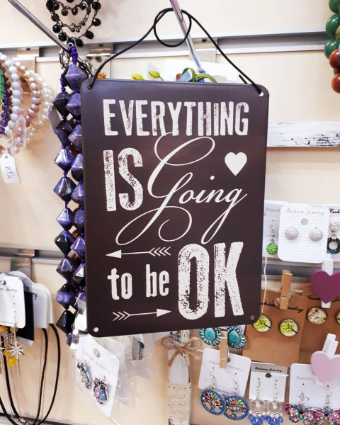 "Tablou cu mesaj motivational ""Everything Is going to be ok"", GMO 1"