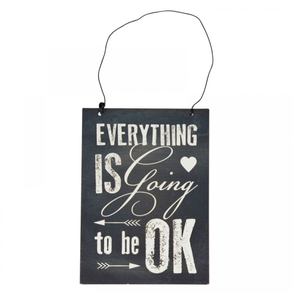"Tablou cu mesaj motivational ""Everything Is going to be ok"", GMO 0"