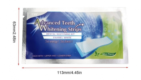 Set de benzi pentru albirea completa a dintilor, GMO, Advanced White [1]