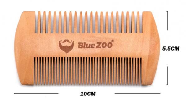Pieptene de barba si mustata, GMO, Duo Blue-Zoo, anti-static 2