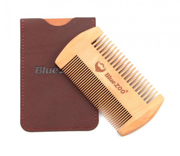 Pieptene de barba si mustata, GMO, Duo Blue-Zoo, anti-static 0