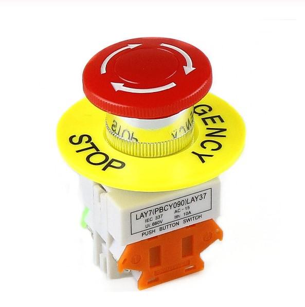 Intrerupator pentru oprirea de urgenta, GMO, LBCY090, cu buton de apasare 1