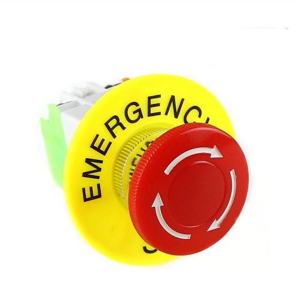 Intrerupator pentru oprirea de urgenta, GMO, LBCY090, cu buton de apasare 2