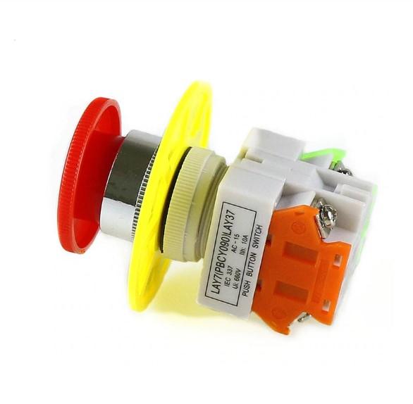 Intrerupator pentru oprirea de urgenta, GMO, LBCY090, cu buton de apasare 3