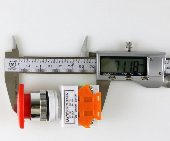 Intrerupator pentru oprirea de urgenta, GMO, LBCY090, cu buton de apasare 4