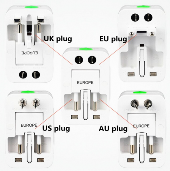 Adaptor de priza international, GMO, All in one 10
