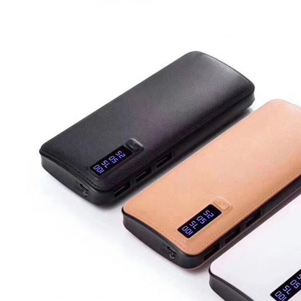 Baterie externa cu incarcare rapida si LED, GMO, Power Box, 30.000 mAh, neagra 2