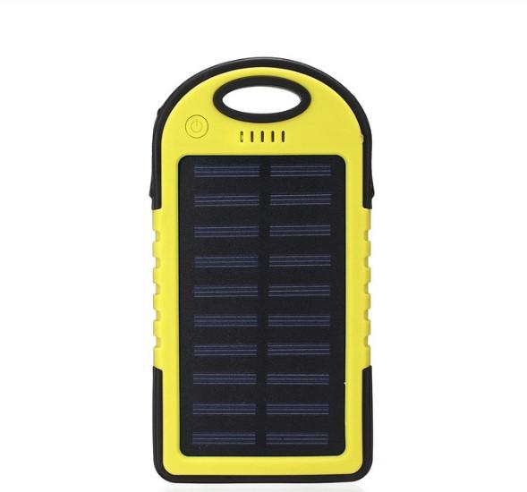 Baterie externa cu incarcare solara si LED, GMO, Solar Charger, 8000 mAh 0