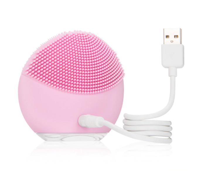 Dispozitiv de curatare faciala, FORCLEAN, Pearl Pink, 8000 oscilatii/minut, 8 trepte de viteza, impermeabil, roz 1