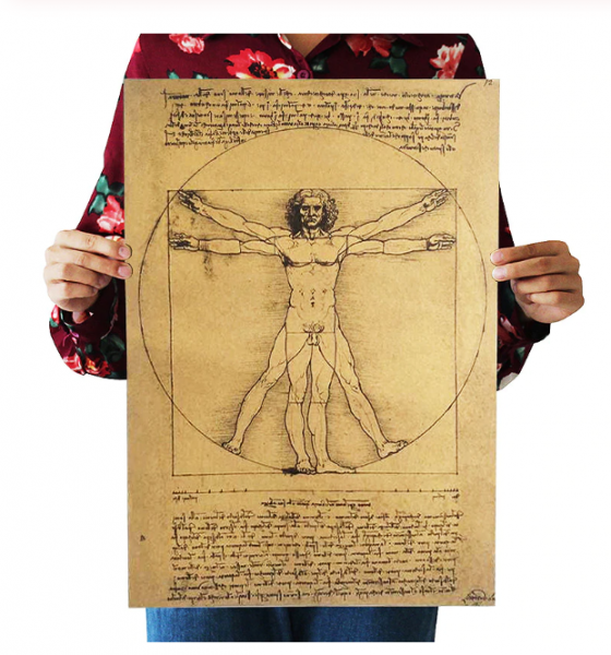 Poster roluit din hartie, GMO, Leonardo Da Vinci 0