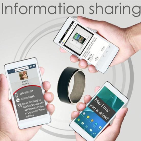 Inel smart NFC, GMO, Diamant, numarul 9 4